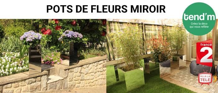 mirror flowerpots miroirs de jardin. Black Bedroom Furniture Sets. Home Design Ideas