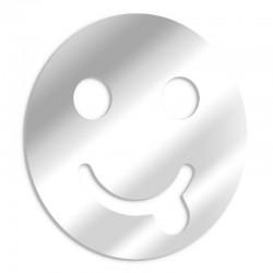 Dekorativer smiley, der Spiegel neckt