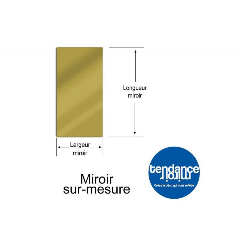 Miroir Acrylique Or 3mm Sur-Mesure Rectangulaire