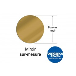 Mirror Gold Acrylic 3mm Custom Round