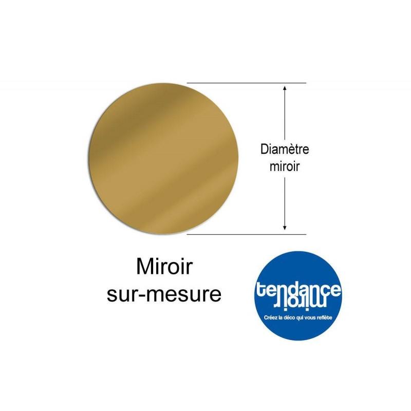 Miroir Acrylique Or 3mm Sur-Mesure Rond