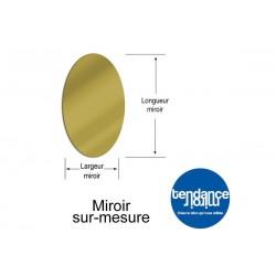 Espejo de acrílico de 3 mm Oro Hecho a la Medida Oval