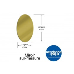 Miroir Or Acrylique 3mm Sur-Mesure Ovale