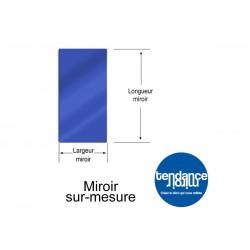 Spiegel Blau Acryl 3mm Custom Rechteckig