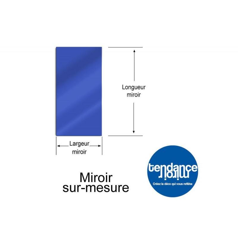 Miroir Bleu Acrylique 3mm Sur-Mesure Rectangulaire