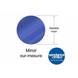 Espejo de acrílico azul 3mm Hecho a la Medida Ronda