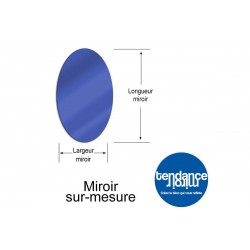 Mirror Blue Acrylic 3mm Custom Oval
