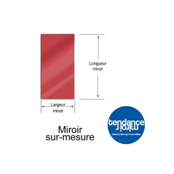 Mirror Red Acrylic 3mm Custom Rectangular