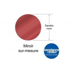 Miroir Rouge Acrylique 3mm Sur-Mesure Rond