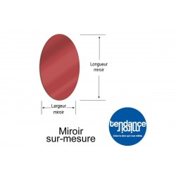 Mirror Red Acrylic 3mm Custom Oval