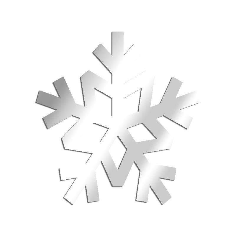 Miroir décoratif Flocon de neige