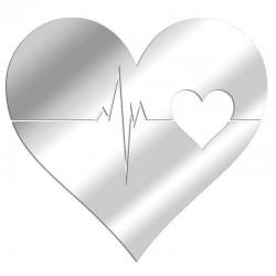 Battito cardiaco a specchio decorativo