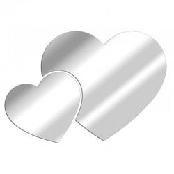 Assembled Hearts Decorative Mirror