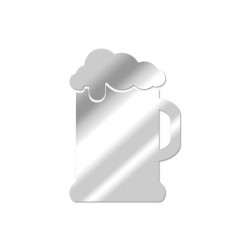 Miroir décoratif Pinte de bière