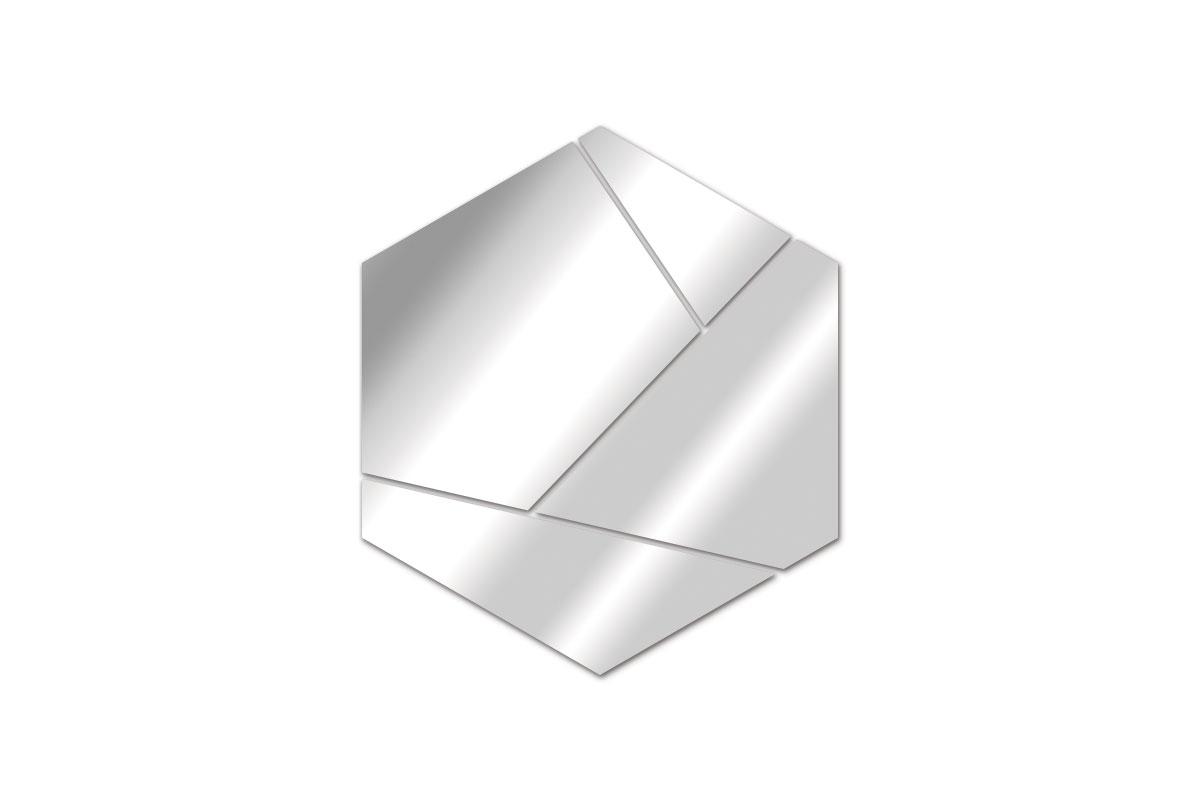 Miroir design hexagone tendance miroir design for Miroir hexagonal