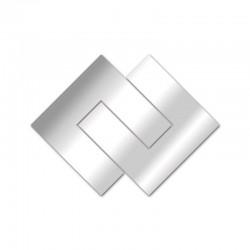 Espejo de diseño geométrico de nudo