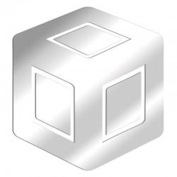Espejo de diseño de cubo 3D
