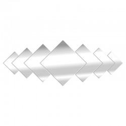 Espejo de diseño de diamante anidado