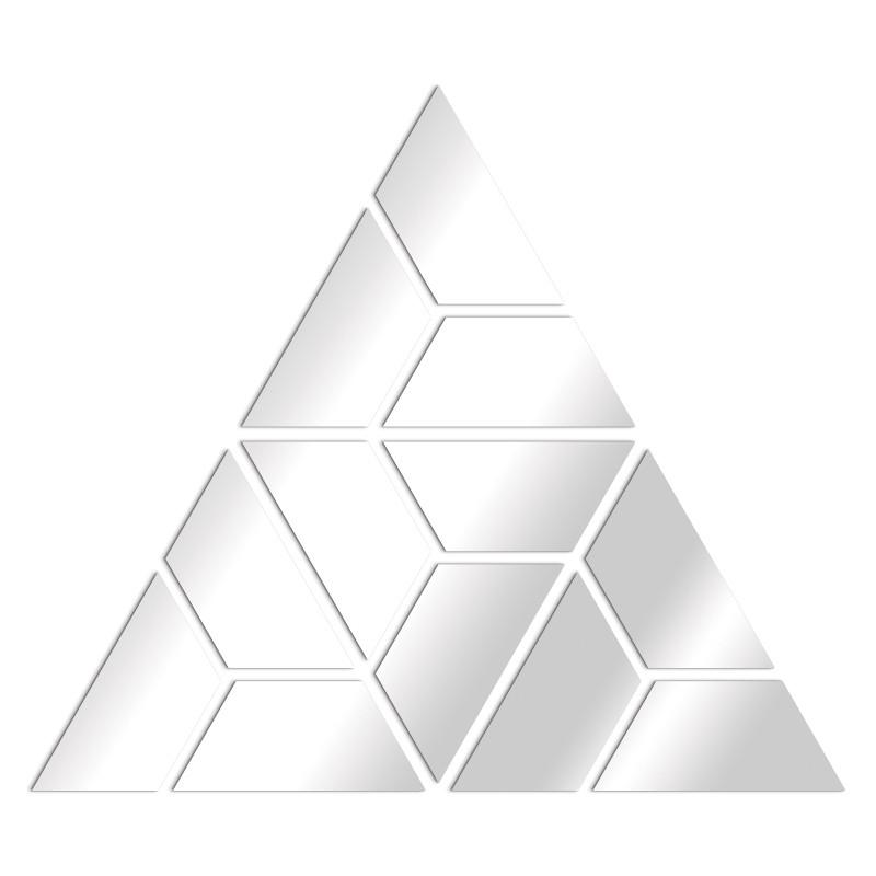 miroir design géométrie triangle trapèzes