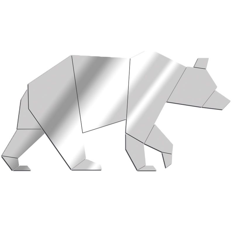 Miroir Ours géométrique