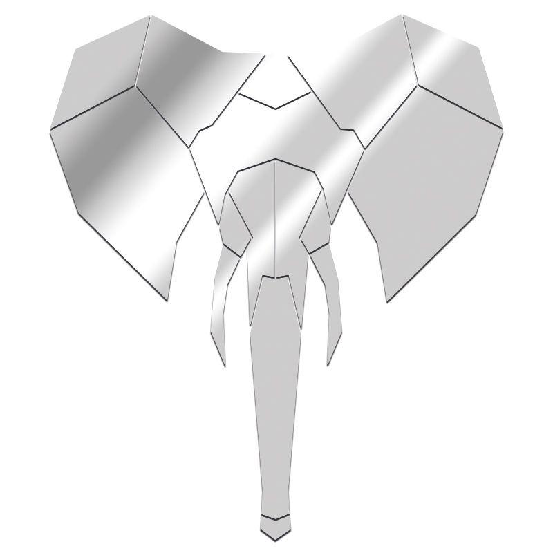 Miroir éléphant géométrique