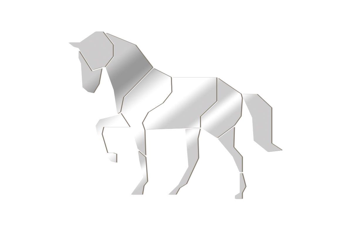 Geometric Horse Mirror Solimar Sarl Tendancemiroir