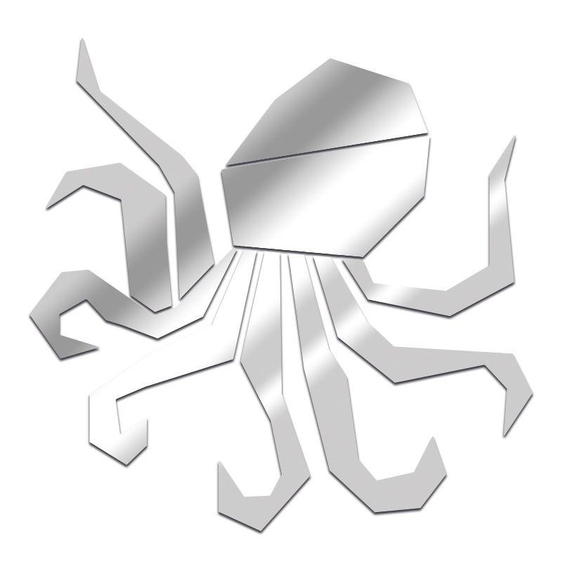 Miroir Octopus géométrique