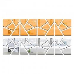 Miroir design carré irrégulier