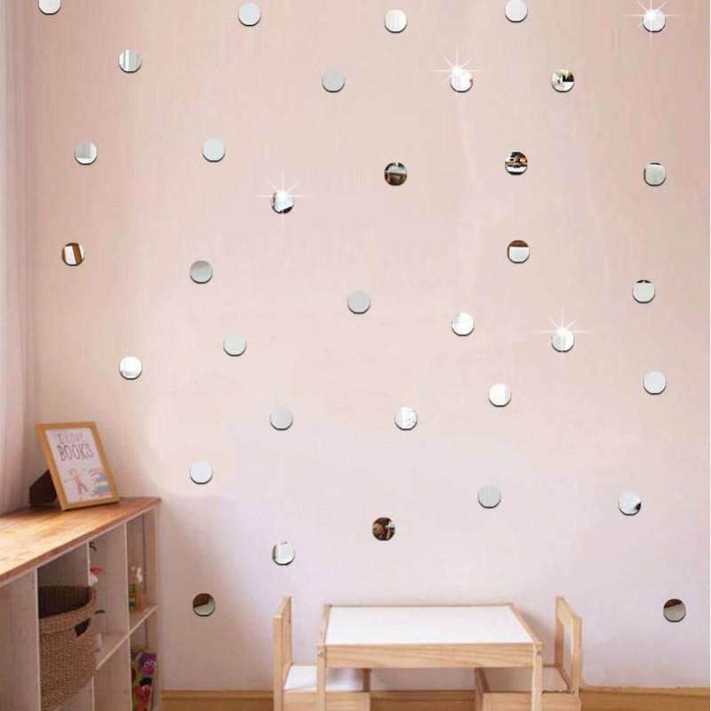Juegos de pequeños espejos redondos decorativos.