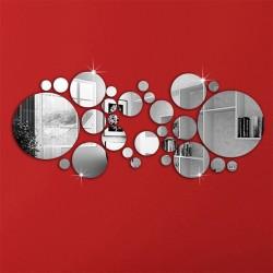 Sets of 26 Decorative Mirrors Bubbles