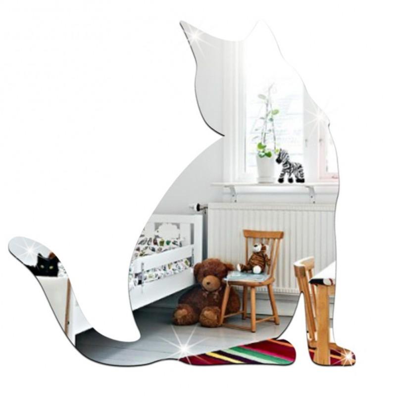 Miroir décoratif Chat 3D