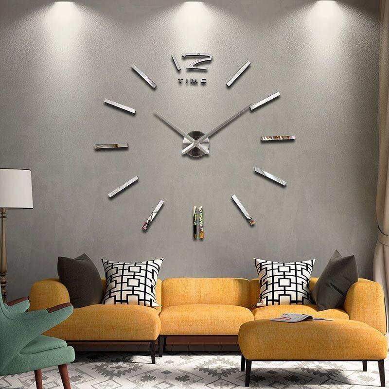 Horloge Style Epuré Miroir