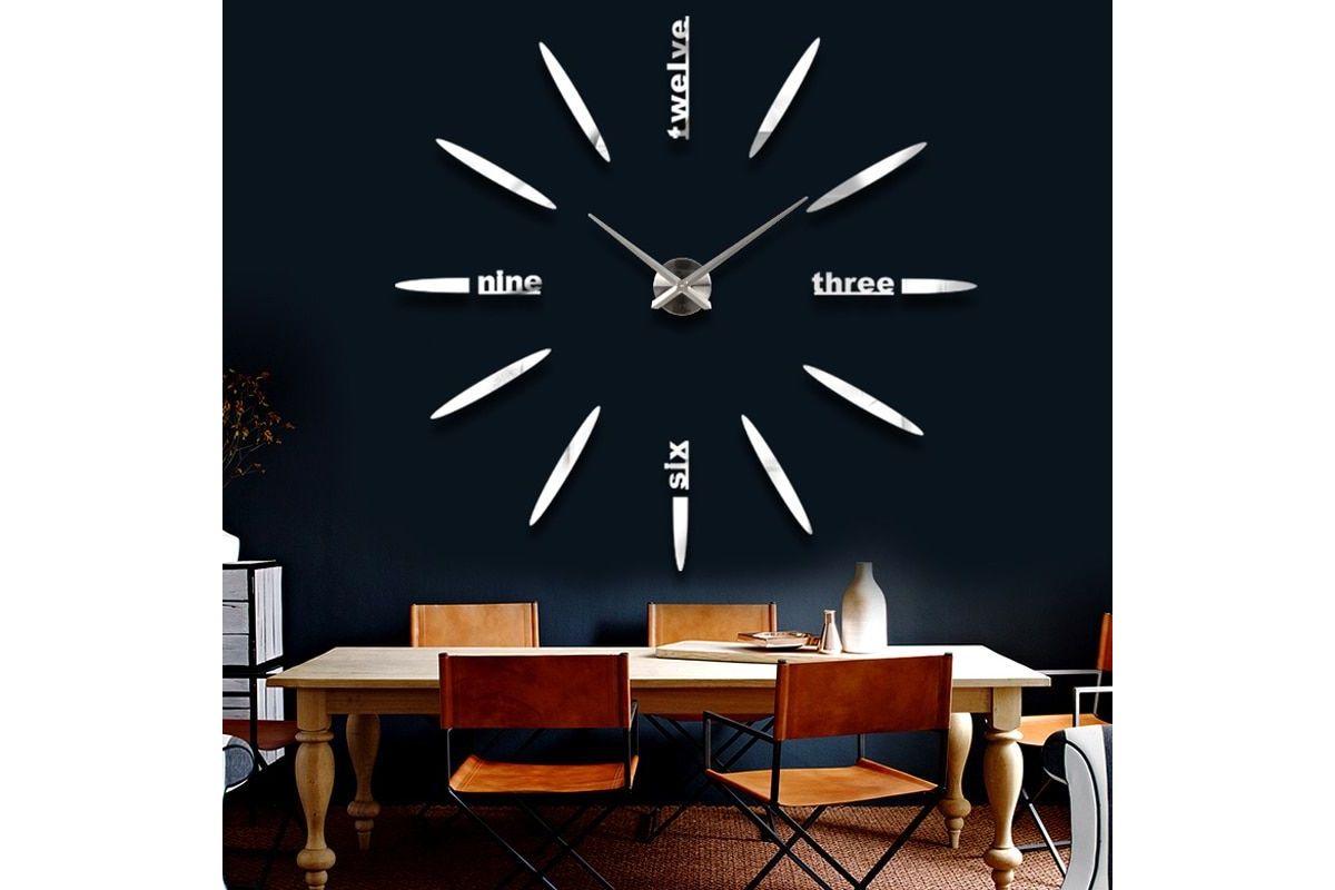 Pareti A Specchio Design orologio da parete grande a specchio
