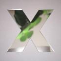Miroir lettre X Arial