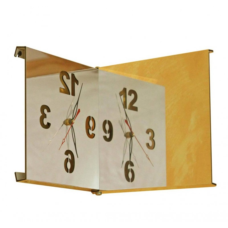 Horloge design miroir carré