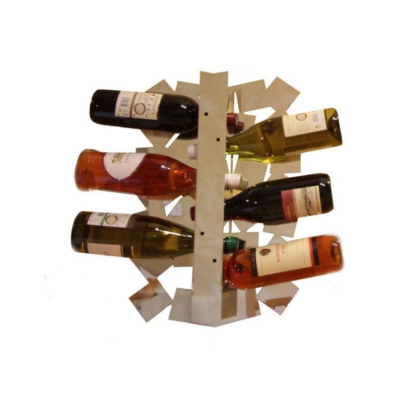 Porte bouteilles design miroir carré