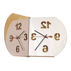 Bubble mirror design clock