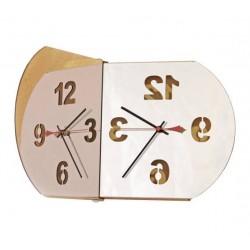 Horloge design miroir bulle