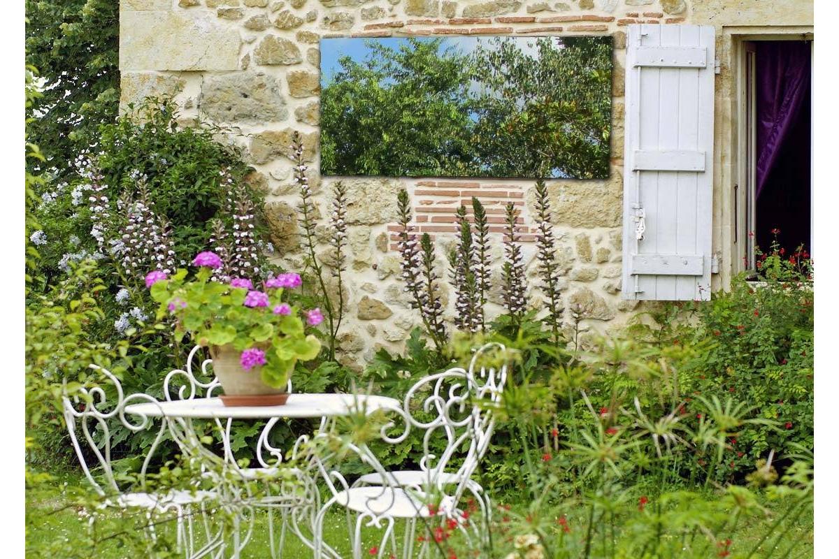 Miroir de jardin 100x50 cm en acrylique tendancemiroir - Miroir de jardin ...