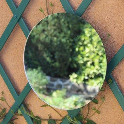 Round mirror to stick 40 cm