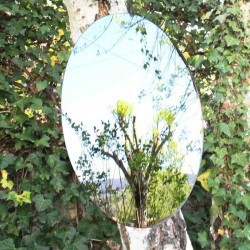 Oval mirror to hang