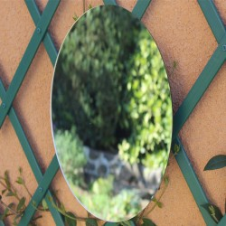 Miroir oval à coller 60 cm