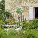 Miroir fleur à coller 40 cm jardin