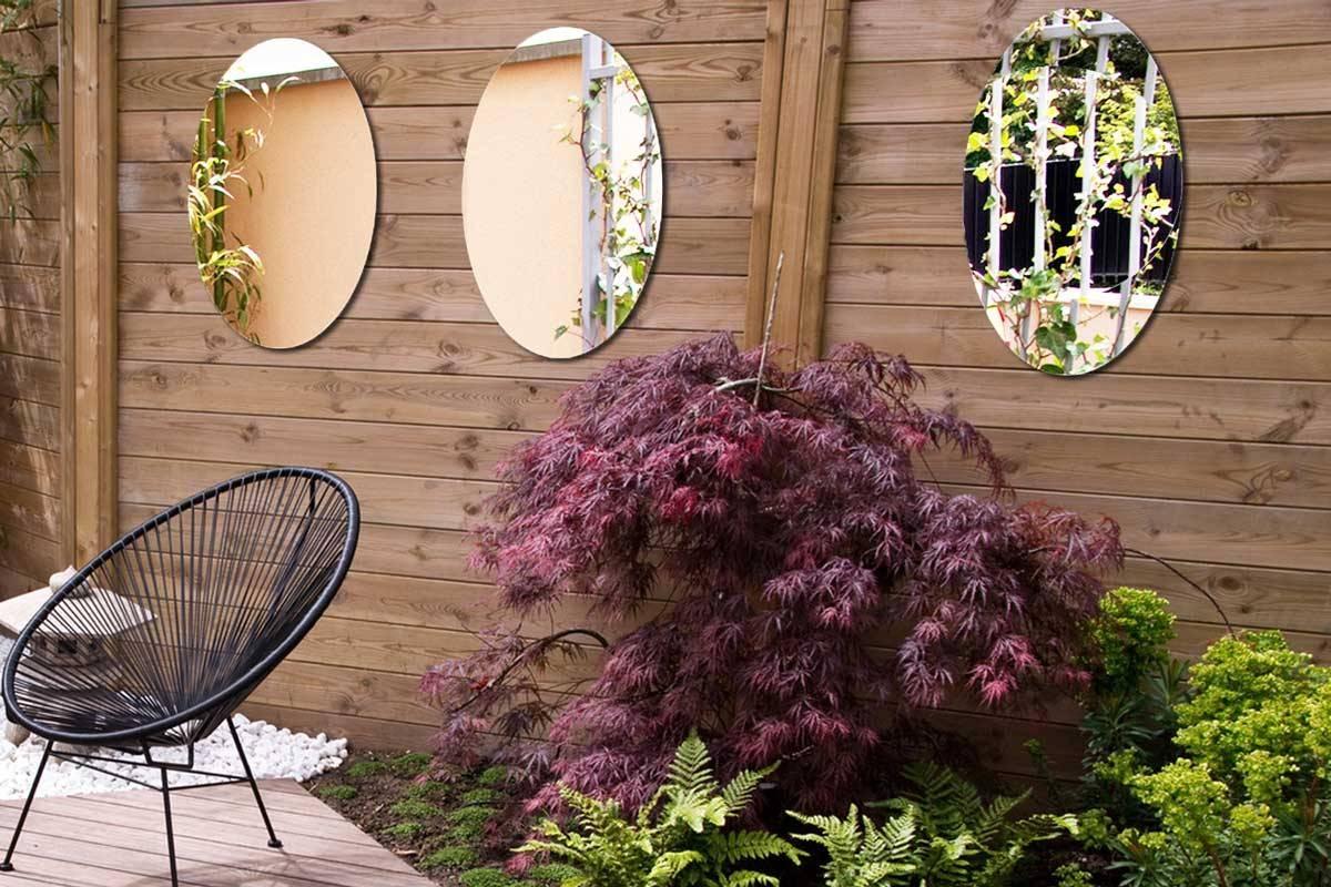 lot 3 miroirs ovals 60 cm coller tendancemiroir. Black Bedroom Furniture Sets. Home Design Ideas