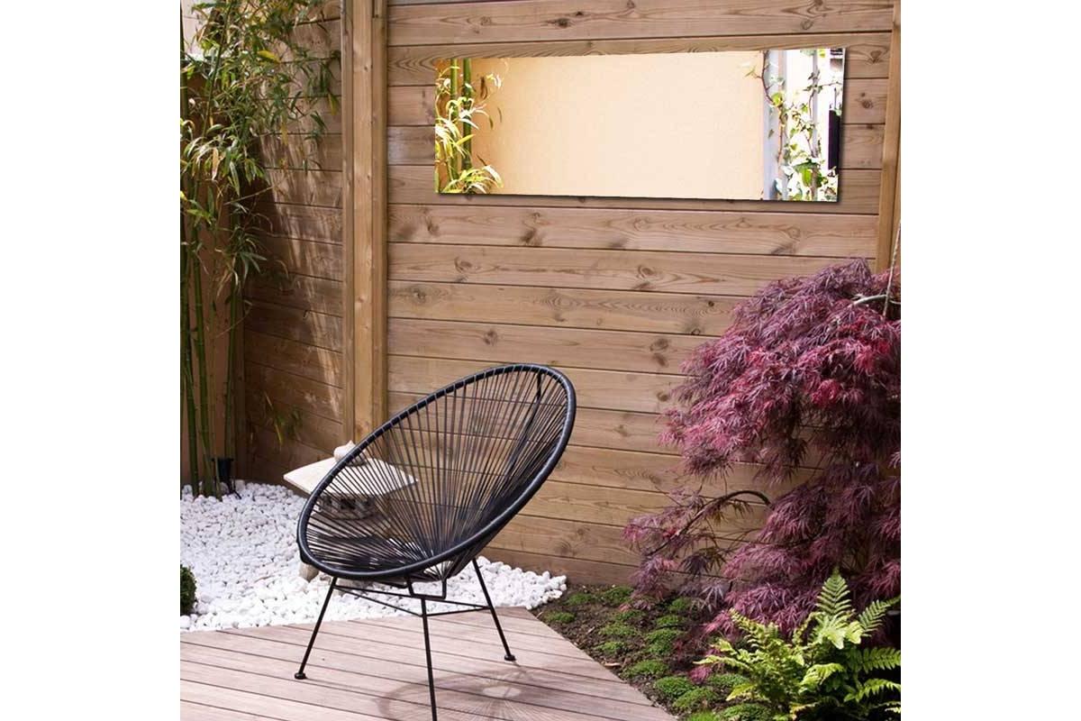 garten spiegel 100x50 cm acryl tendance miroir d coratifs. Black Bedroom Furniture Sets. Home Design Ideas