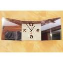 Horloge Triptyque Miroir Carrée