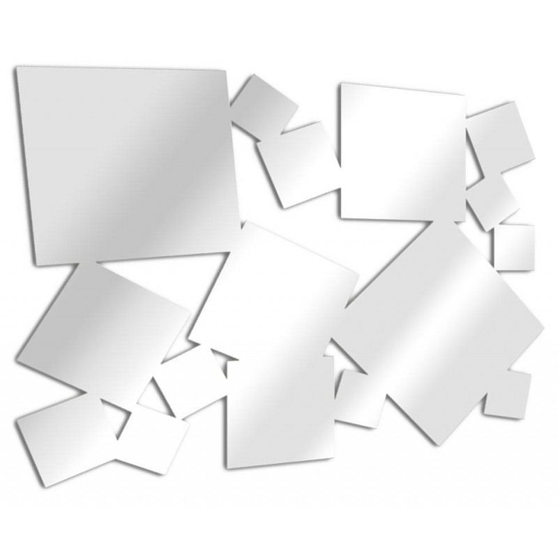 Miroir design carrés multiples