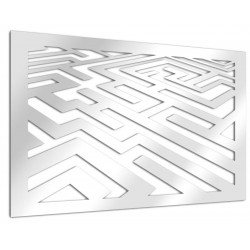 Espejo de diseño laberíntico