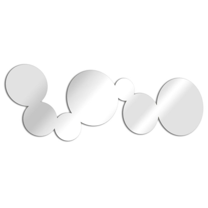 Espejo de diseño alargado burbujas