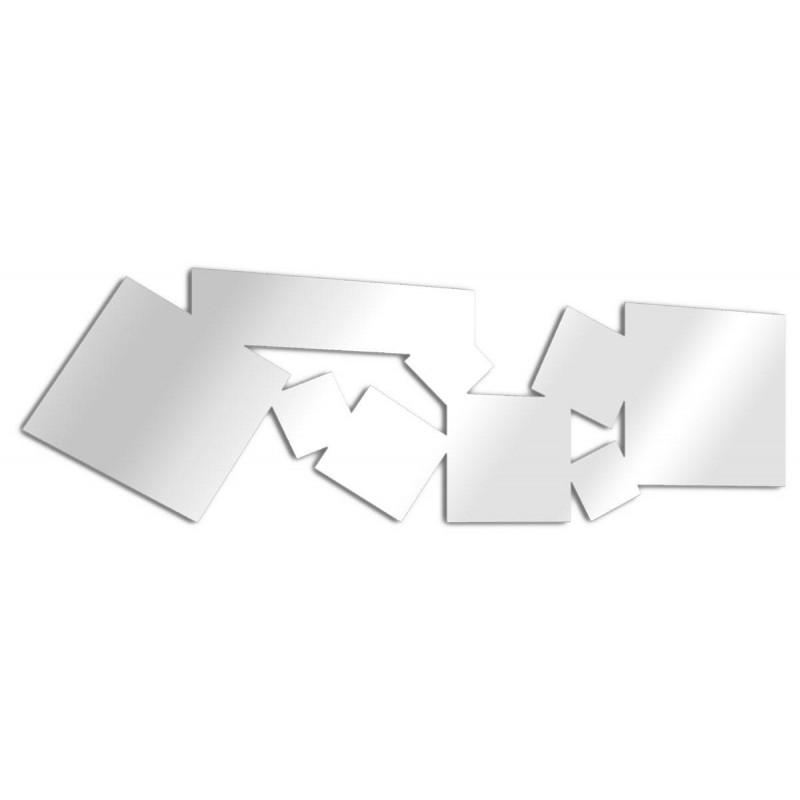 Miroir design carrés multiples allongé